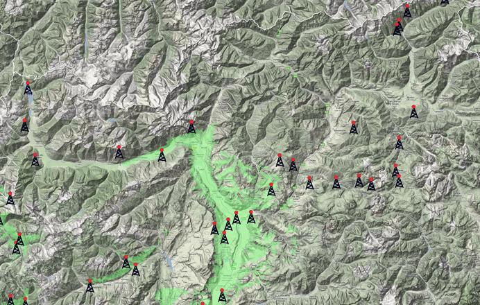 Netzabdeckung Südtirol